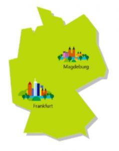 Standorte in DE: Frankfurt und Magdeburg