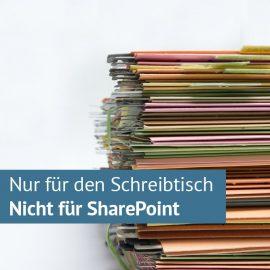 8 x Nein zu Ordner in SharePoint