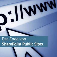 Microsoft stellt öffentliche SharePoint Online-Websites zum 01. Oktober 2017 ein